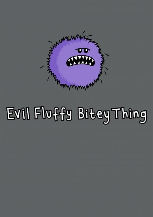evil fluffy unisex charcoal