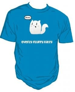 fluffy kitty t-shirt