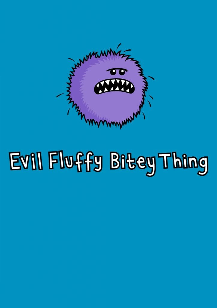 fb4ebcae Evil Fluffy Bitey Thing womens original designed t-shirt by Genki Gear