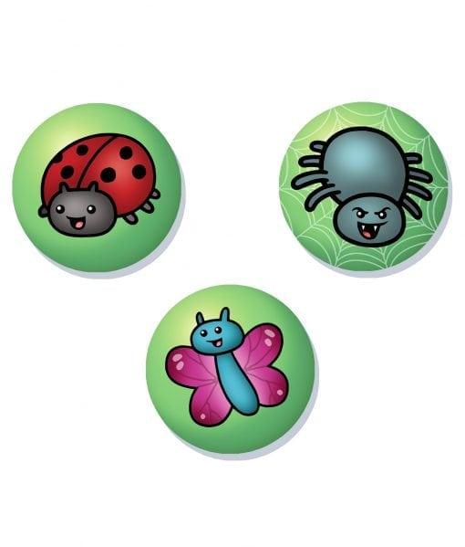 creepy crawlie badge set