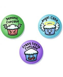 Cupcakes cute badge set
