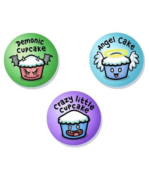 Cupcakes cute badge set