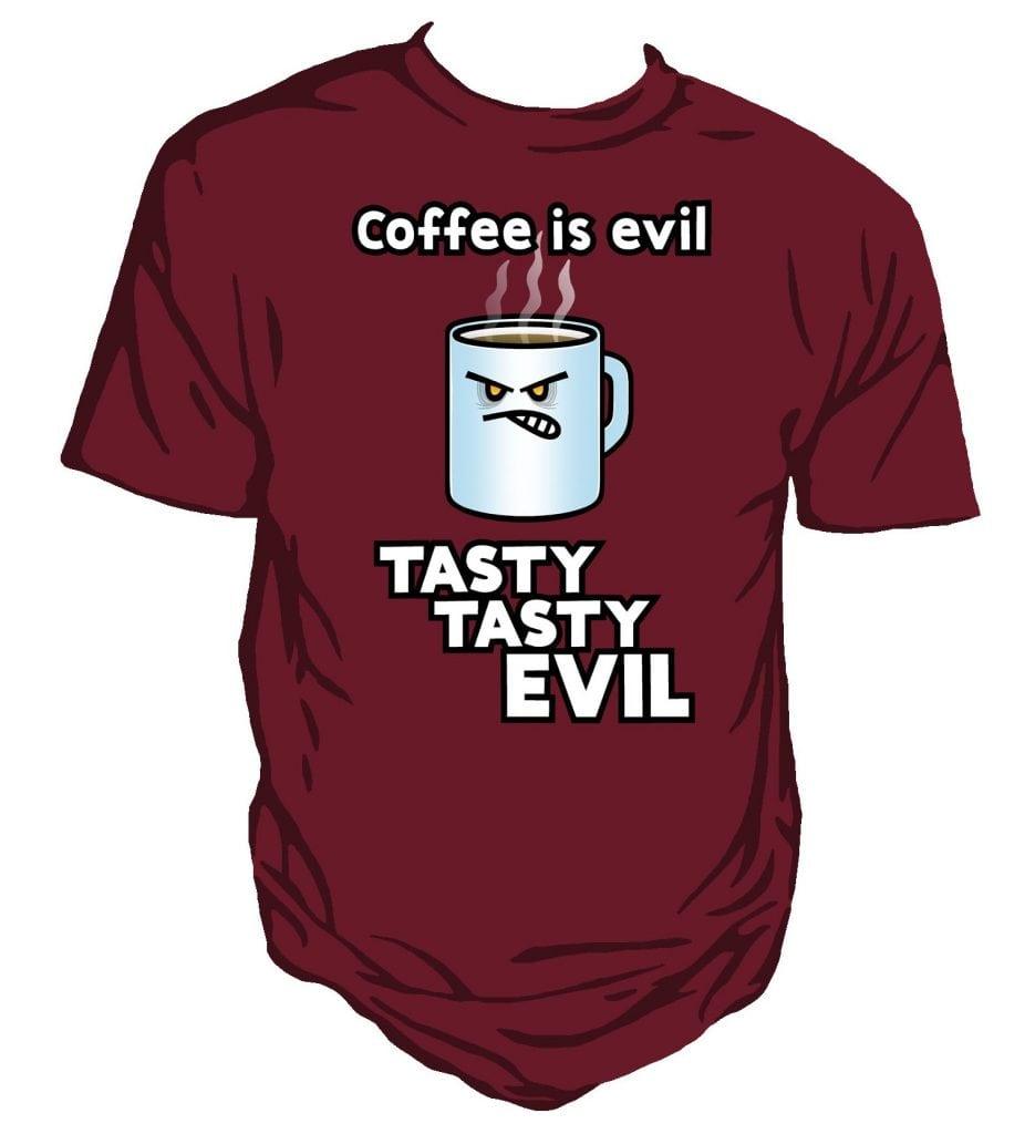 fd86bf782c Tasty, Evil Coffee! Unisex T-Shirt | Genki Gear