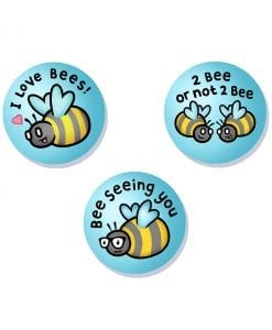 bees badge set original and cute