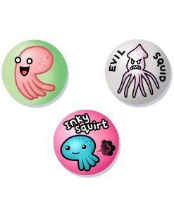 tentacles cute and creepy badges
