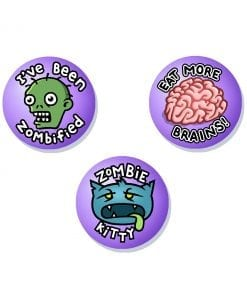 Zombie badges cute scary original