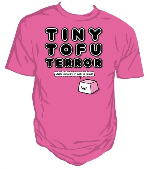 Tofu Terror Unisex T-shirt Pink