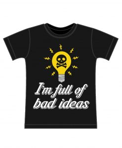 bad ideas kids t-shirt