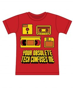 obsolete tech kids t-shirt