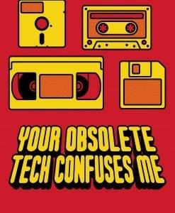 Obsolete technology fun t-shirt by Genki Gear