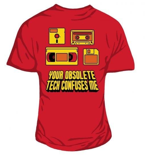 obsolete technology t-shirt