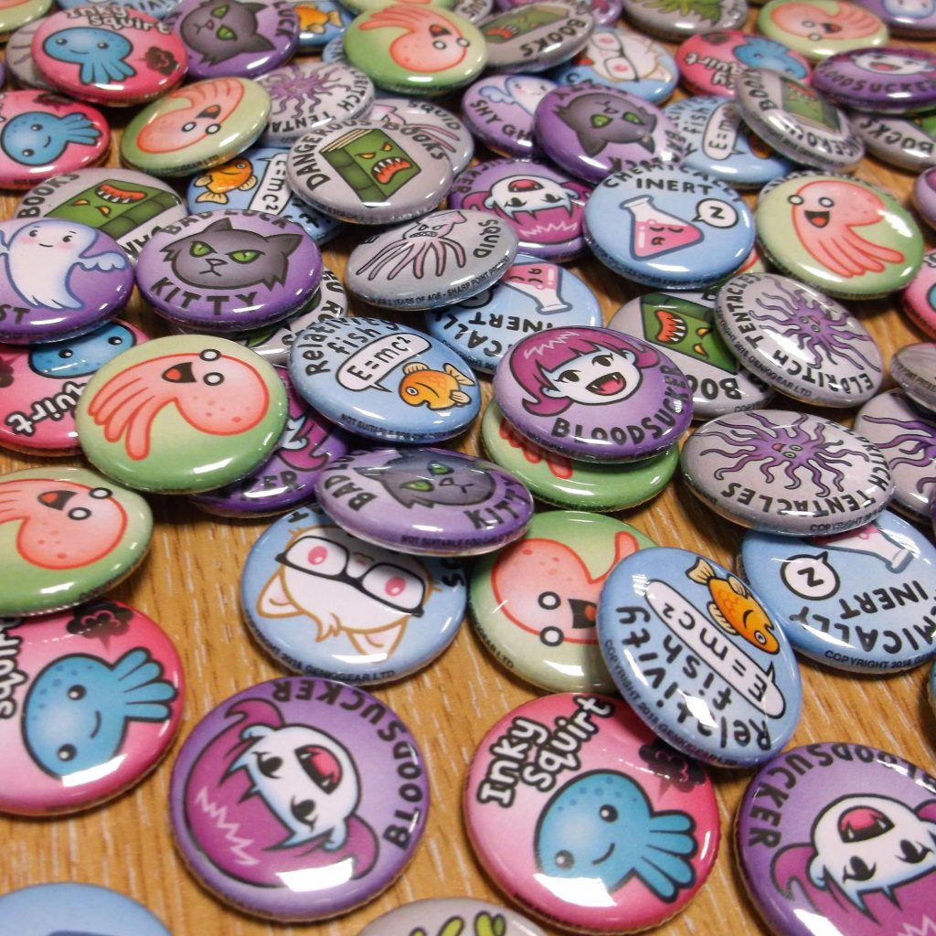 cute, spooky and fun badge sets