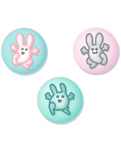 bouncy bunnies badge set