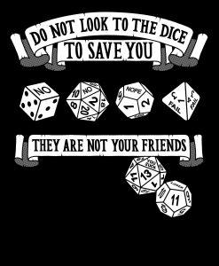 unfriendly dice gaming t-shirt