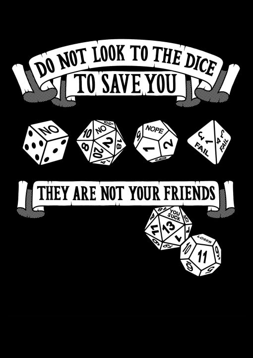 unfriendly dice gaming t-shirt