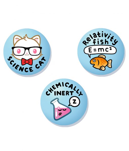 cute science original badge set