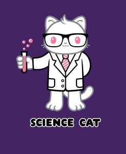 Science Cat original Genki Gear cute design