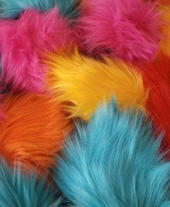 Big fluffy neon coloured ears