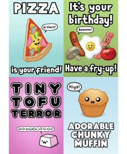 Cute food card set