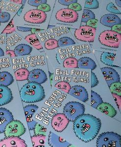 evil fluffy bookmark