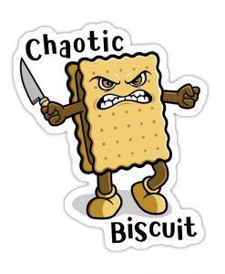 chaotic Biscuit Bespoke Vinyl sticker