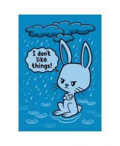 Enjoyment bunny vinyl sticker