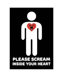 scream in your heart vinyl sticker