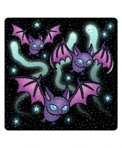 Spooky Bats sparkly stickers