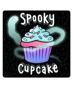 spooky cupcake sparkly sticker image