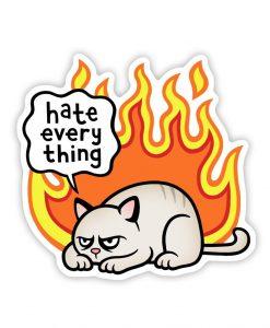 Rage cat Acrylic pin badge