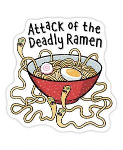 Deadly ramen sparkly sticker image