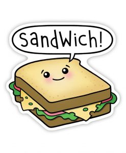 Sandwich acrylic pin badge