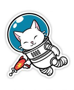Space Kitten acrylic pin badge