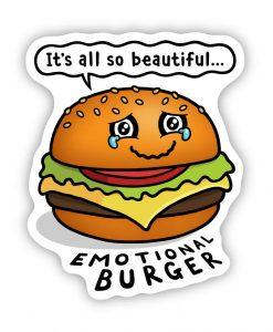Emotional Burger bespoke shaped vinyl sticker