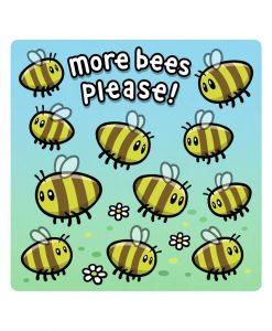 more Bees bespoke shaped vinyl sticker