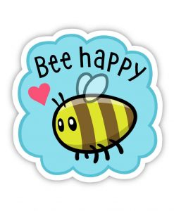 Bee acrylic pin badge image
