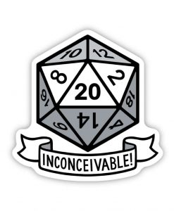 inconceivable Acrylic Pin Badge image