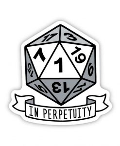 in perpetuity acrylic pin badge image